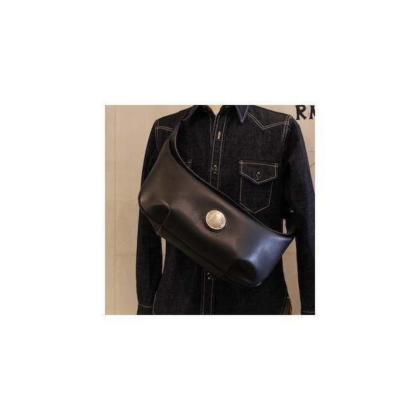 レッドムーン バッグ  REDMOON ボディバッグ  LONGSHIP-LGM Lサイズ ショルダーバッグ オイルレザー 51mmコンチョ rmismfukuoka 02