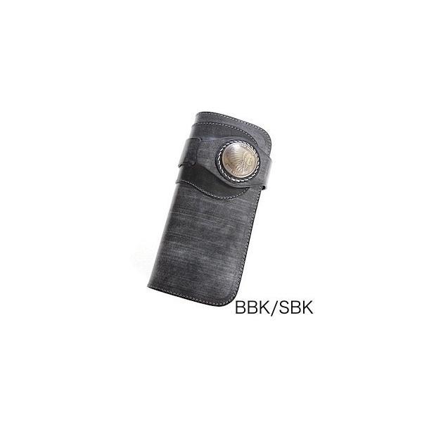 パイロットリバー  ウォレット REDMOON ロングウォレット PR-HW02BD-RM38 ブライドルレザーブラック サドルレザー 38mmコンチョ【送料無料】|rmismfukuoka|02