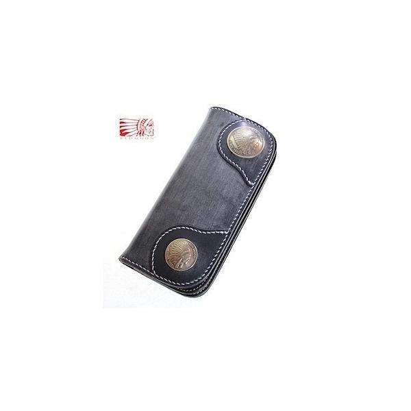 レッドムーン ウォレット REDMOON ロングウォレット S-NB02C-BD ブライドルレザー ネイビー 財布【送料無料】|rmismfukuoka|02