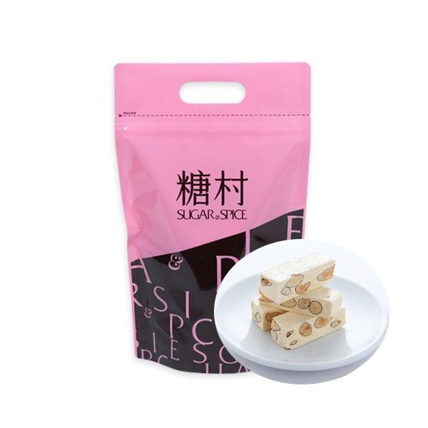 《糖村》法式牛軋糖(フレンチヌガー)-400g (ジッパーバッグ) 《台湾 お土産》|rnet-servic