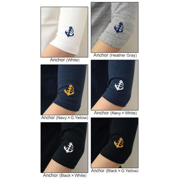 (SP7分) オリジナル スパン フライス 7分袖 クルーネック Tシャツ メンズ レディース 刺繍 無地 七分袖 ストレッチ インナー 厚手 重ね着 下着 五分袖 SP7T|robinjeansbug|06