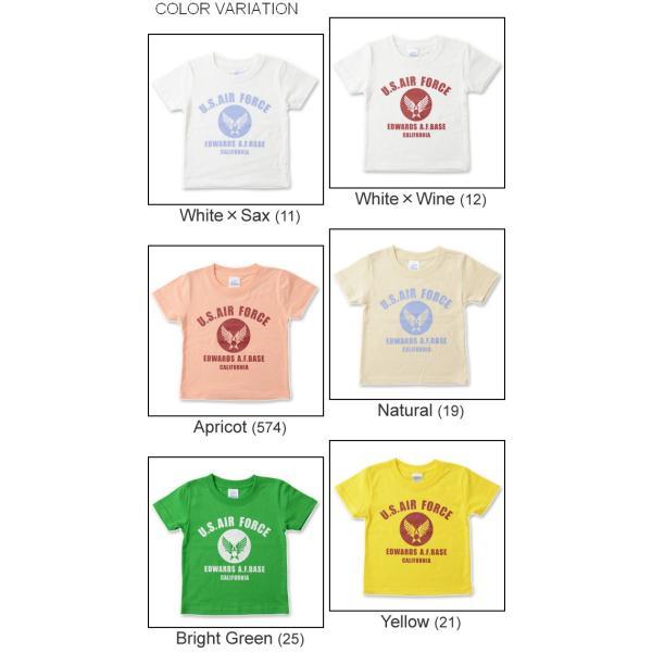 (キッズTシャツ)U.S. AIR FORCE CA エアフォース キッズ 半袖Tシャツ 親子 お揃い 子供服 ベビー おそろい ペアルック 出産祝い プレゼント ギフト KDT-CA|robinjeansbug|04