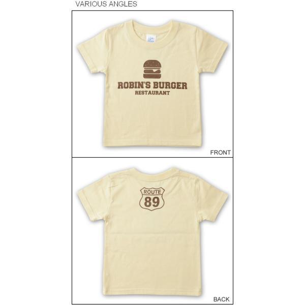 (キッズTシャツ)ROBIN'S BURGER ハンバーガー 半袖Tシャツ 親子 お揃い 子供服 ベビー 男の子 女の子 ペアルック 出産祝い プレゼント ギフト KDT-BURGER|robinjeansbug|04