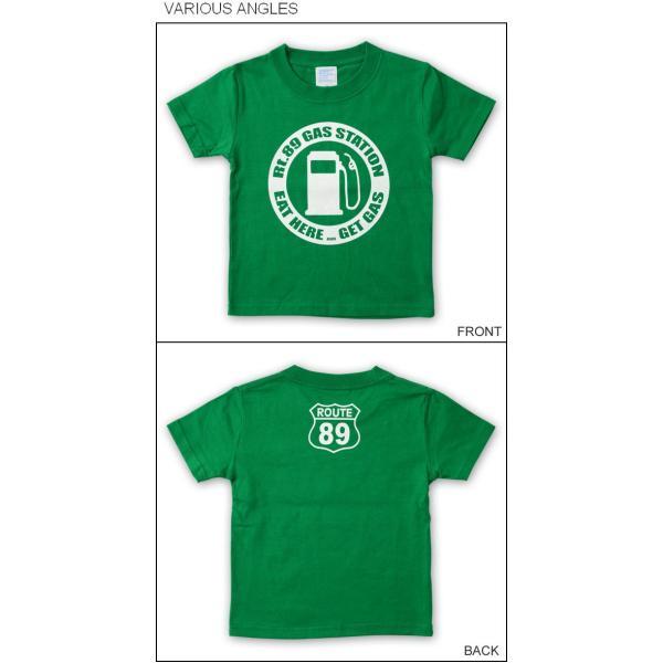 (キッズTシャツ)GAS STATION アメカジ キッズ 半袖Tシャツ 親子 子供服 ベビー 男の子 女の子 おそろい ペアルック 出産祝い プレゼント ギフト KDT-GAS|robinjeansbug|02