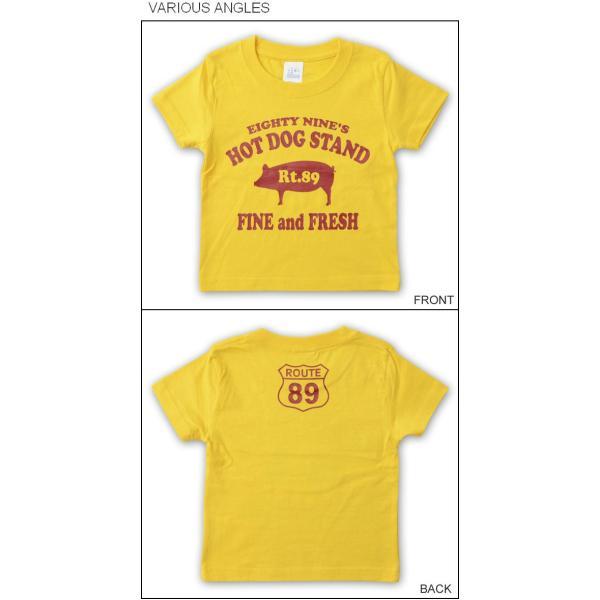 (キッズTシャツ)89's HOT DOG 豚モチーフ 半袖Tシャツ 親子 お揃い 子供服 ベビー 男の子 女の子 ペアルック 出産祝い プレゼント ギフト ブタ KDT-HOTDOG robinjeansbug 04