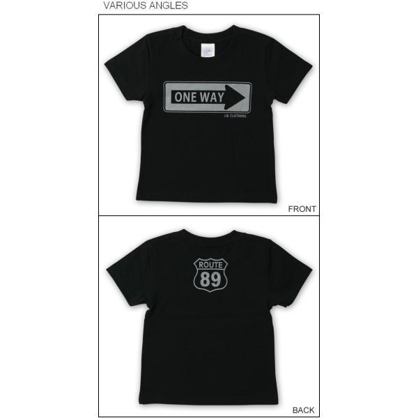 キッズ 半袖 Tシャツ ONE WAY オリジナル アメカジ プリント 親子ペア 子供服 ベビー 男の子 女の子 お揃い ペアルック 出産祝い プレゼント ギフト KDT-ONEWAY|robinjeansbug|02