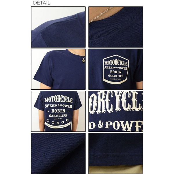半袖 Tシャツ メンズ MY WAY オリジナル バイカー プリント ガレージ カスタム モーターサイクル バイク レディース 大きいサイズ ビッグサイズ ST-MYWAY|robinjeansbug|03