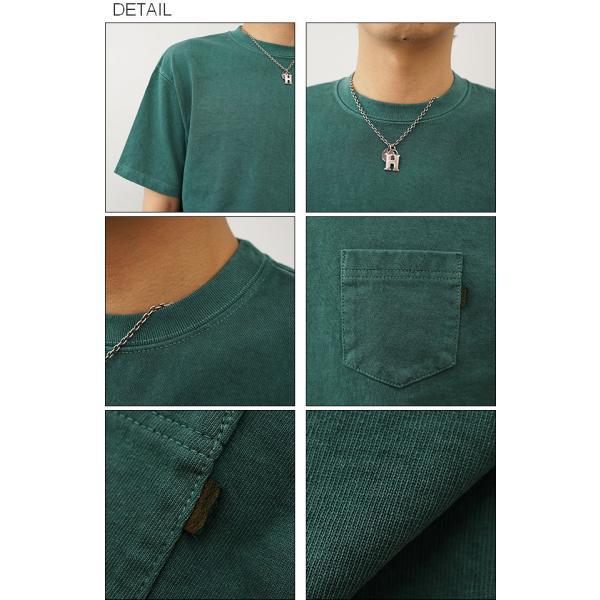 ピグメント 染め プレミアム 半袖 ポケット Tシャツ オリジナル USコットン 無地 カットソー 厚手 古着 風 スエット スウェット メンズ レディース PRPK-PIGMT robinjeansbug 03