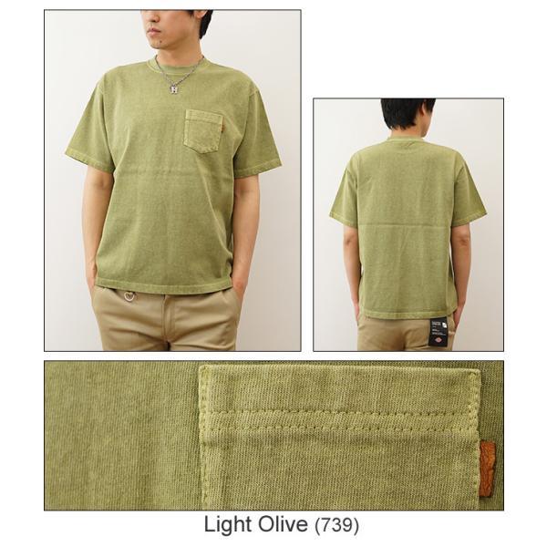 ピグメント 染め プレミアム 半袖 ポケット Tシャツ オリジナル USコットン 無地 カットソー 厚手 古着 風 スエット スウェット メンズ レディース PRPK-PIGMT robinjeansbug 09