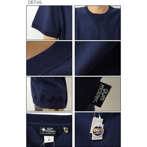 gym master ジムマスター ガゼット サイド パネル クルーネック Tシャツ メンズ レディース 無地 半袖 カットソー 厚手 スウェット スエット G521351 robinjeansbug 03