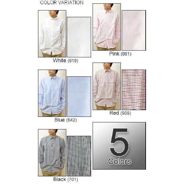EDWIN(エドウィン) オックスフォード&チェック BDシャツ 大人のふだん着 ボタンダウン 無地シャツ チェックシャツ 45279|robinjeansbug|03