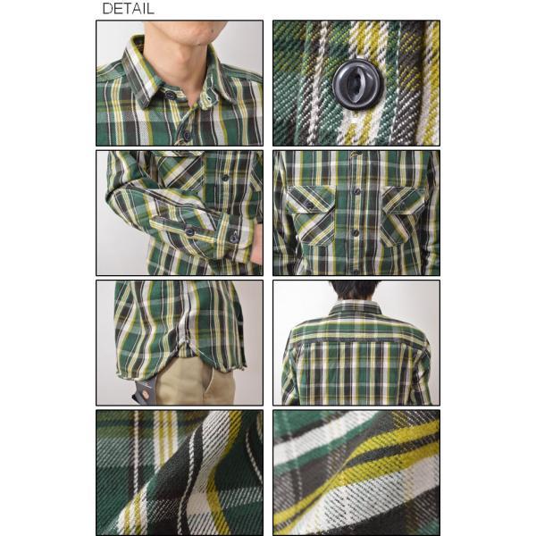 (ヘビーネルシャツ)JEANSBUG オリジナルヘヴィーフランネル チェック柄 長袖シャツ メンズ レディース ワーク 厚手 ネルシャツ 大きいサイズ 16-2000JB|robinjeansbug|03