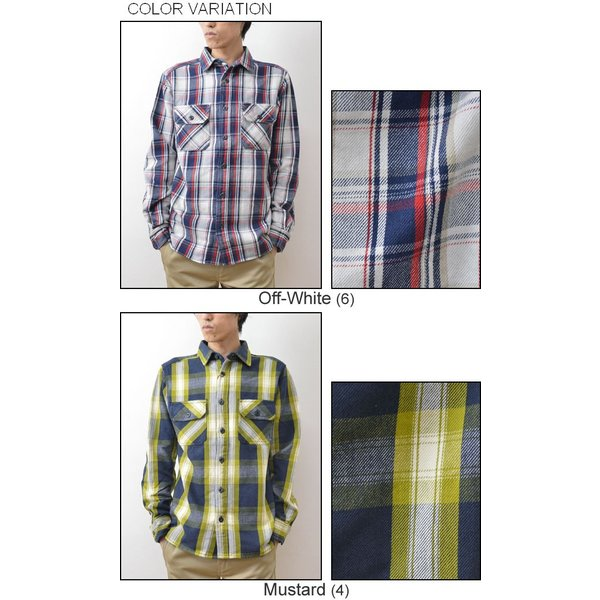 (ヘビーネルシャツ)JEANSBUG オリジナルヘヴィーフランネル チェック柄 長袖シャツ メンズ レディース ワーク 厚手 ネルシャツ 大きいサイズ 16-2000JB|robinjeansbug|04