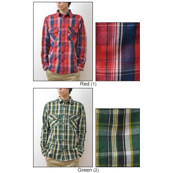 (ヘビーネルシャツ)JEANSBUG オリジナルヘヴィーフランネル チェック柄 長袖シャツ メンズ レディース ワーク 厚手 ネルシャツ 大きいサイズ 16-2000JB|robinjeansbug|05