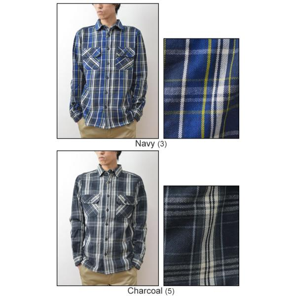 (ヘビーネルシャツ)JEANSBUG オリジナルヘヴィーフランネル チェック柄 長袖シャツ メンズ レディース ワーク 厚手 ネルシャツ 大きいサイズ 16-2000JB|robinjeansbug|06