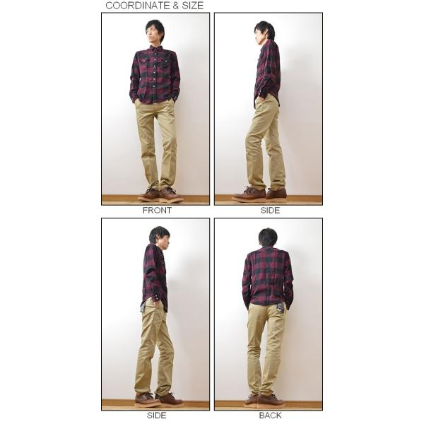 Levi's(リーバイス) ウエスタンシャツ メンズ 長袖 デニムシャツ ネルシャツ チェックシャツ クラシック ブロックチェック フランネル 66986|robinjeansbug|02