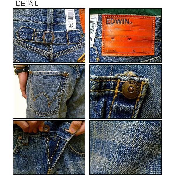 EDWIN(エドウィン) 『505 Short pants』 Wide Silhouette ワイドシルエット デニムショートパンツ Used Wash(156) ショーパン ハーフパンツ 【51334-156】|robinjeansbug|03