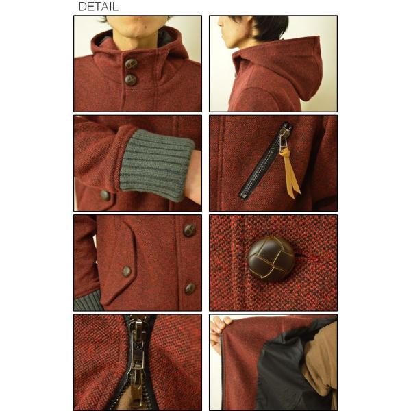 Revo.(レヴォ) 圧縮ニット フード ブルゾン メンズ ウール混紡 ジャケット アウター レボ TH-1571|robinjeansbug|03