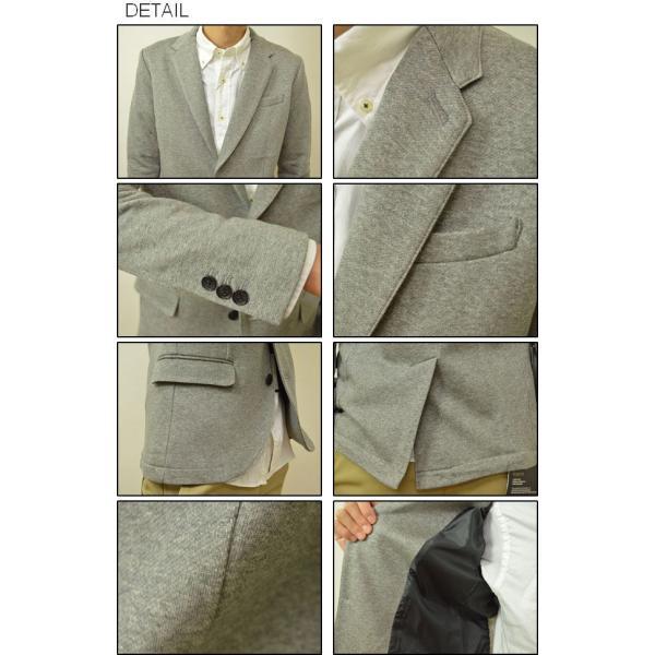 Slick(スリック) ドレスコード シルケット テーラードジャケット メンズ キレイめジャケット カジュアルジャケット 2B 裏毛 シルク タイト 細身 5168719|robinjeansbug|03