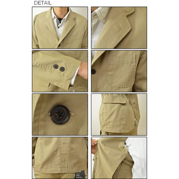 SONTAKU(ソンタク) オックスフォード 洗える シャツ ジャケット メンズ テーラード 3つボタン 日本製 家庭 洗濯可能 841HD15211|robinjeansbug|03