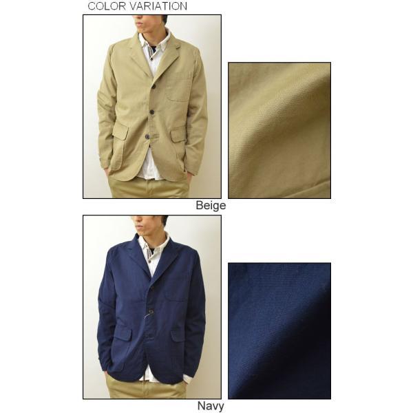 SONTAKU(ソンタク) オックスフォード 洗える シャツ ジャケット メンズ テーラード 3つボタン 日本製 家庭 洗濯可能 841HD15211|robinjeansbug|04