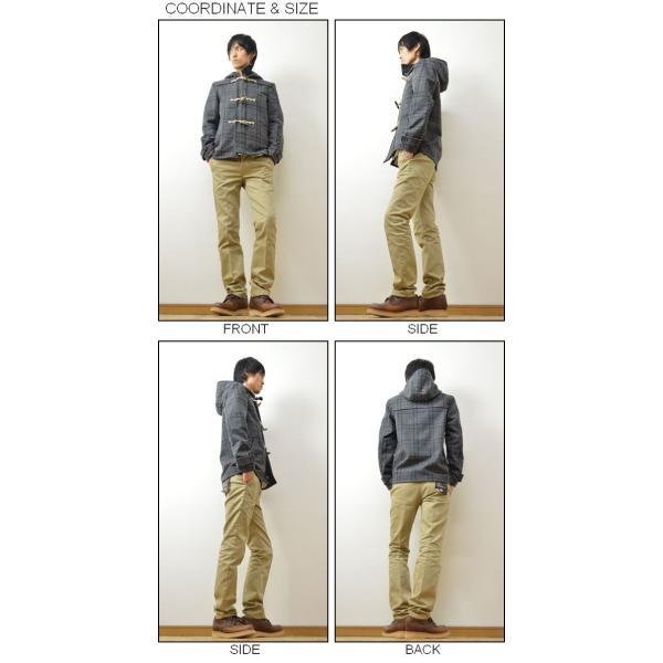 CORISCO(コリスコ) メルトンウール チェック柄 ショート ダッフルコート メンズ ジャケット アウター 131909|robinjeansbug|02