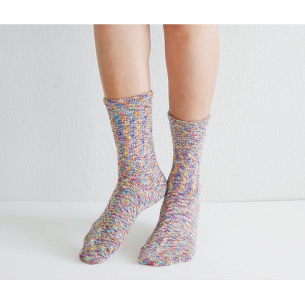 rasox(ラソックス) Splash Cotton スプラッシュ・コットン L字型ソックス クルー丈靴下 【CA060LC35】|robinjeansbug|03