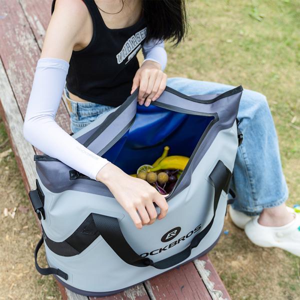 クーラーボックス 保冷バッグ ソフトクーラー トートバッグ型 超保冷 48時間保冷 4層構造 釣り BBQ キャンプ|rockbros|18