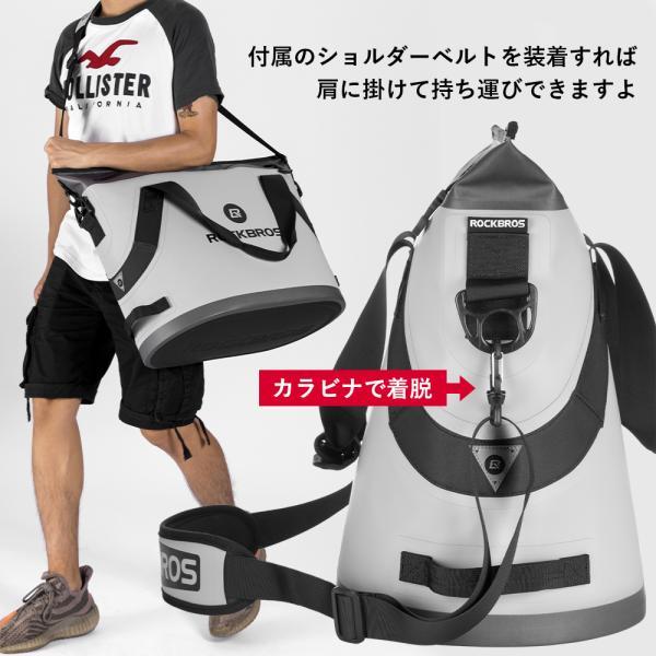 クーラーボックス 保冷バッグ ソフトクーラー トートバッグ型 超保冷 48時間保冷 4層構造 釣り BBQ キャンプ|rockbros|09