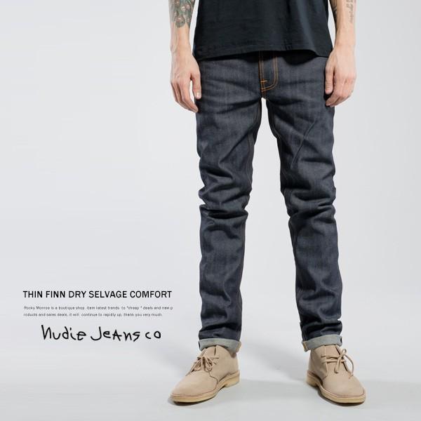 Nudie Jeans ヌーディージーンズ THIN FINN シンフィン DRY SELVAGE COMFORT|rockymonroe