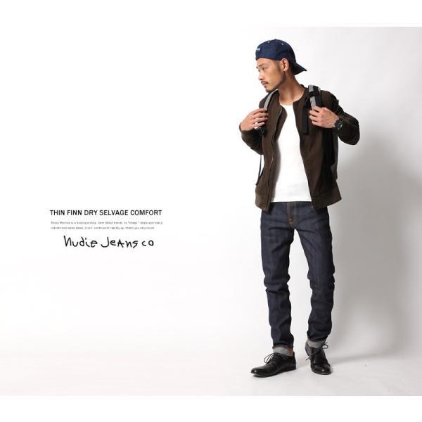 Nudie Jeans ヌーディージーンズ THIN FINN シンフィン DRY SELVAGE COMFORT|rockymonroe|02