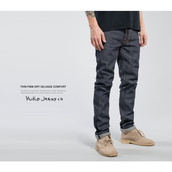 Nudie Jeans ヌーディージーンズ THIN FINN シンフィン DRY SELVAGE COMFORT|rockymonroe|04