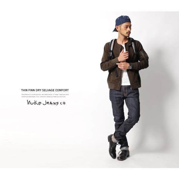 Nudie Jeans ヌーディージーンズ THIN FINN シンフィン DRY SELVAGE COMFORT|rockymonroe|06