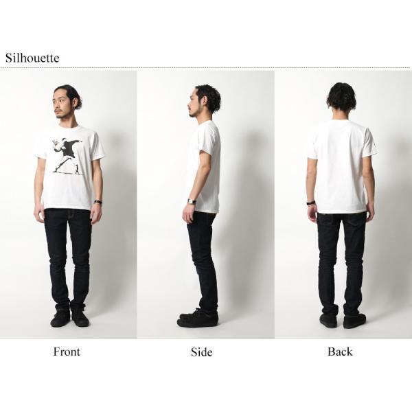 バンクシー banksy プリントTシャツ メンズ 半袖 グラフィック ロゴ キャラクター|rockymonroe|04