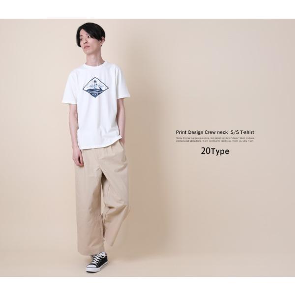 Tシャツ メンズ 半袖 プリント クルーネック ロゴ 英字 コットン 綿 ゆうパケット送料無料|rockymonroe|16