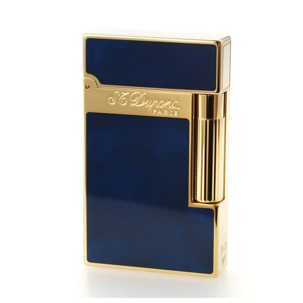 ST デュポン ライター ライン2 016134 アトリエ ブルーラッカー&イエローゴールド 国内正規品 LINE 2 高級 人気 ブランド