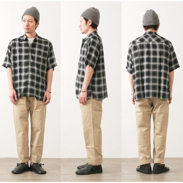 02b52e7123eaed ... SANCA(サンカ) オンブレチェック ワンアップ オープンシャツ / 半袖 / メンズ / 日本