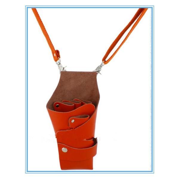 本革 シザーケース  美容師 理容師 上質レザー美フローリスト   ウエストバッグ ベルト付肩掛け、腰巻き レザーケース|rodend|04