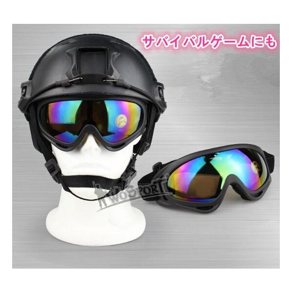 UV400 Protection CE ゴーグル スノー ミリタリー サバイバル スノーボード サバゲー スノーボー ミラー スキー スポーツ サバゲー ビッグレンズ ゴーグル|rodend|02