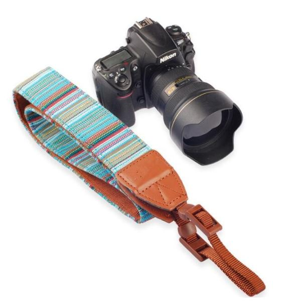 カメラ用 一眼レフ用 カメラストラップ レインボー 一眼 かわいい 民族風 ストラップ おしゃれ斜めがけ シンプルな マルチカラー ネックストラップ |rodend|03