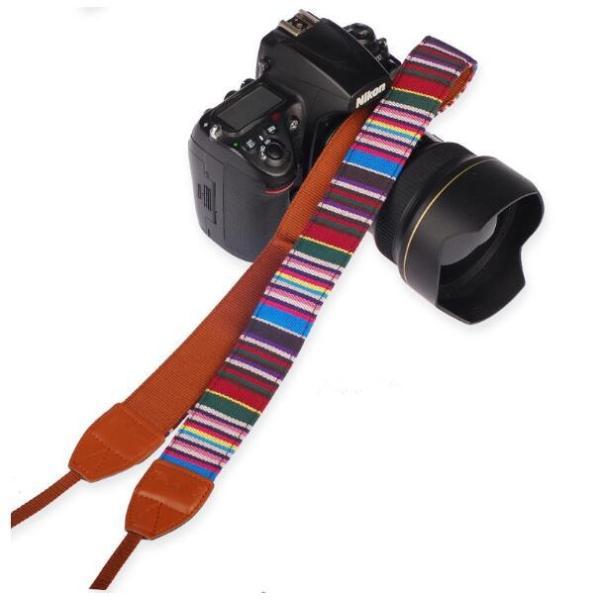 カメラ用 一眼レフ用 カメラストラップ レインボー 一眼 かわいい 民族風 ストラップ おしゃれ斜めがけ シンプルな マルチカラー ネックストラップ |rodend|04