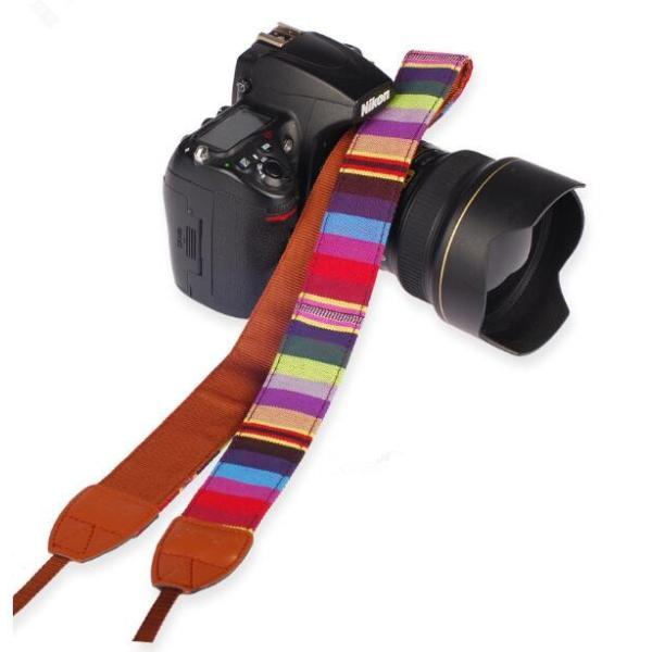 カメラ用 一眼レフ用 カメラストラップ レインボー 一眼 かわいい 民族風 ストラップ おしゃれ斜めがけ シンプルな マルチカラー ネックストラップ |rodend|05