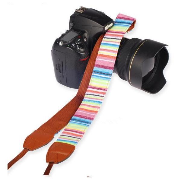 カメラ用 一眼レフ用 カメラストラップ レインボー 一眼 かわいい 民族風 ストラップ おしゃれ斜めがけ シンプルな マルチカラー ネックストラップ |rodend|06