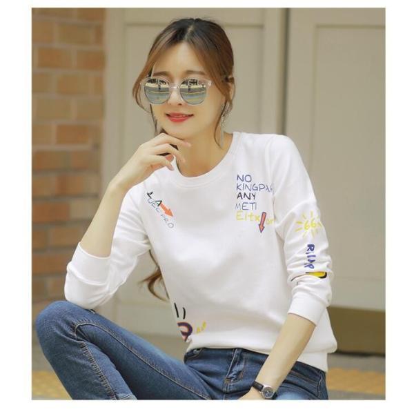 可愛い レディース  ロングTシャツ  トップス レディース  秋新作 ロングカジュアル 長袖 Tシャツ|rodend|05