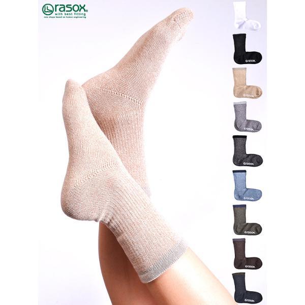 rasoxラソックスレディースメンズ靴下ベーシックスタンダード定番ソックスビジネスBA100CR17
