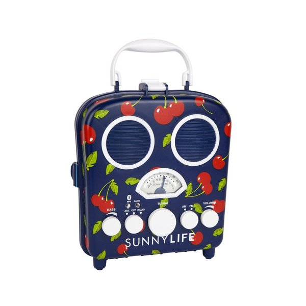 SUNNYLIFE サニーライフ ワイヤレススピーカー Bluetooth スマートフォン スマホ ラジオ グッズ Beach Sounds Cherry 海水浴 プール 海 S87SOBCH