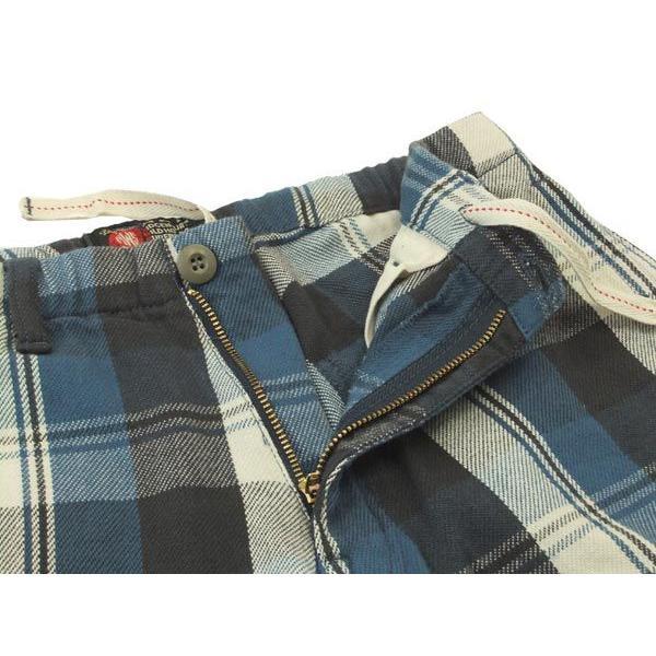 MWS ショーツ ネルチェック ショートパンツ MWS-1511304 ブルー 新品|rodeomatubara|04