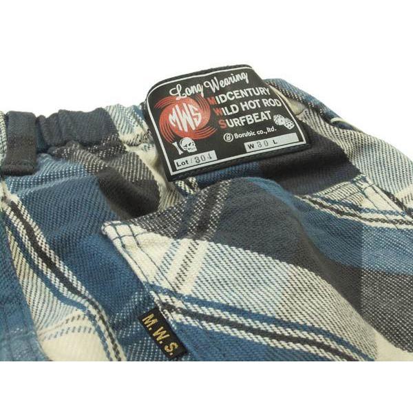 MWS ショーツ ネルチェック ショートパンツ MWS-1511304 ブルー 新品|rodeomatubara|06