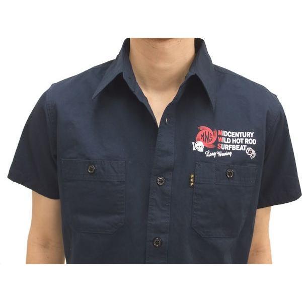 MWS アメカジシャツ ヘリンボーン MWS定番柄 1513005 ダークネイビー 新品|rodeomatubara|04