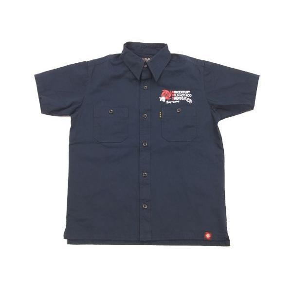 MWS アメカジシャツ ヘリンボーン MWS定番柄 1513005 ダークネイビー 新品|rodeomatubara|05